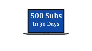 500 Subscribers in 30 Days OTO