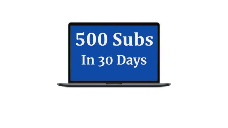 500 Subscribers in 30 Days OTO – OTO 1 2 3 4